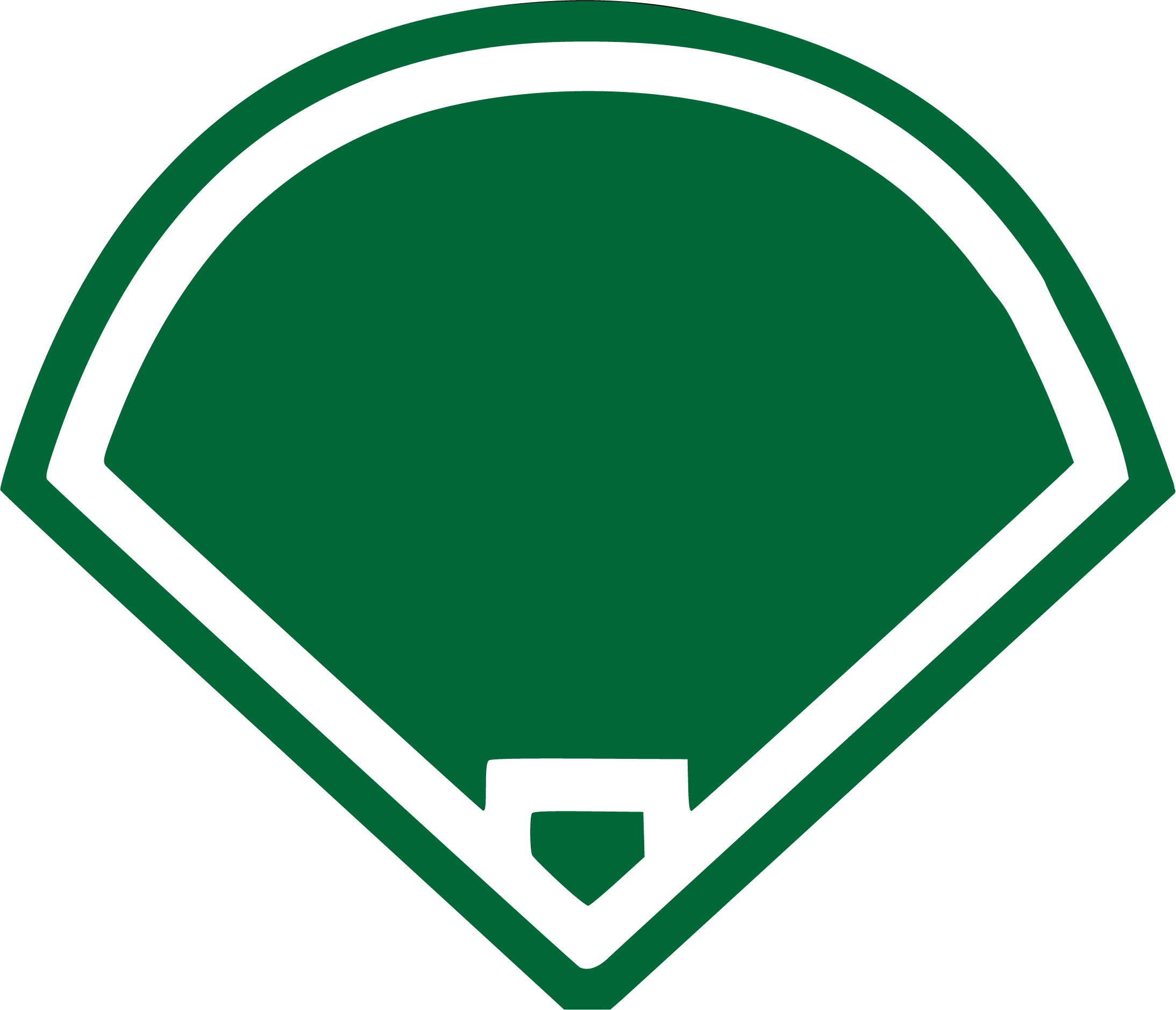 Campo verde de béisbol
