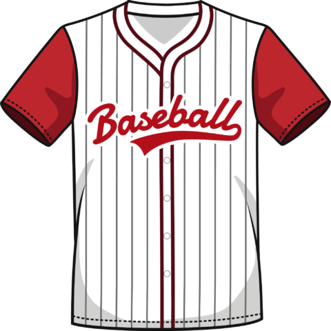 Camisa béisbol roja