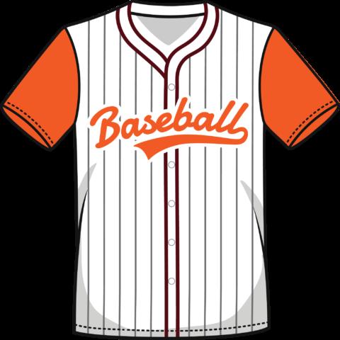 Camisa color naranja béisbol