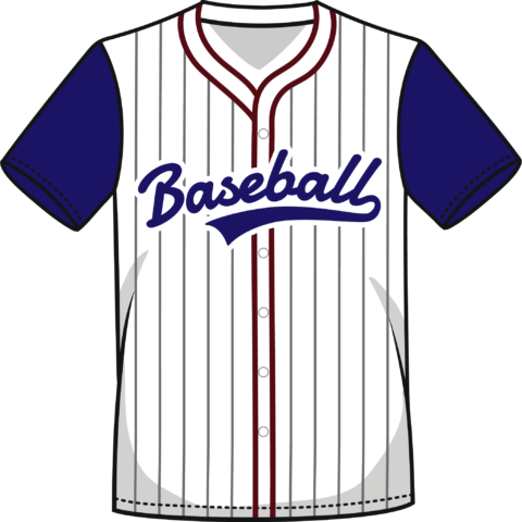 Camisa de béisbol color azul