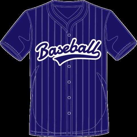 Camisa azul y blanca béisbol