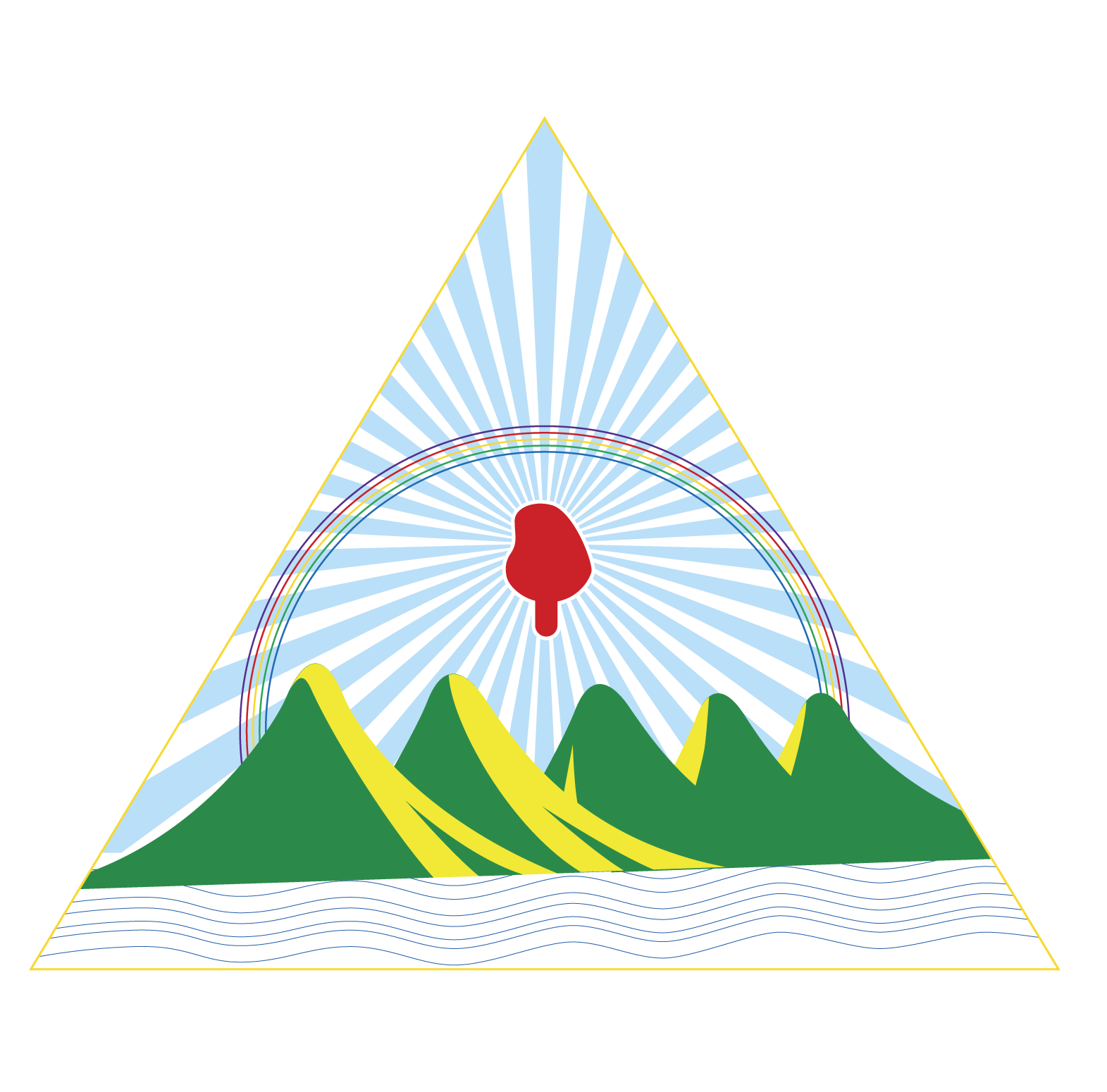 Escudo de Nicaragua a color