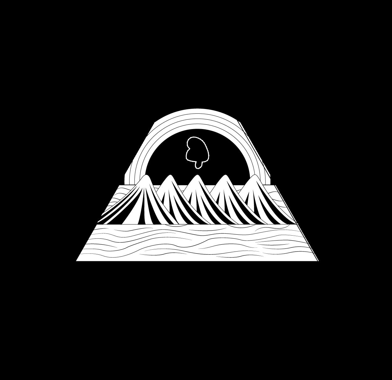 Escudo de Nicaragua blanco y negro