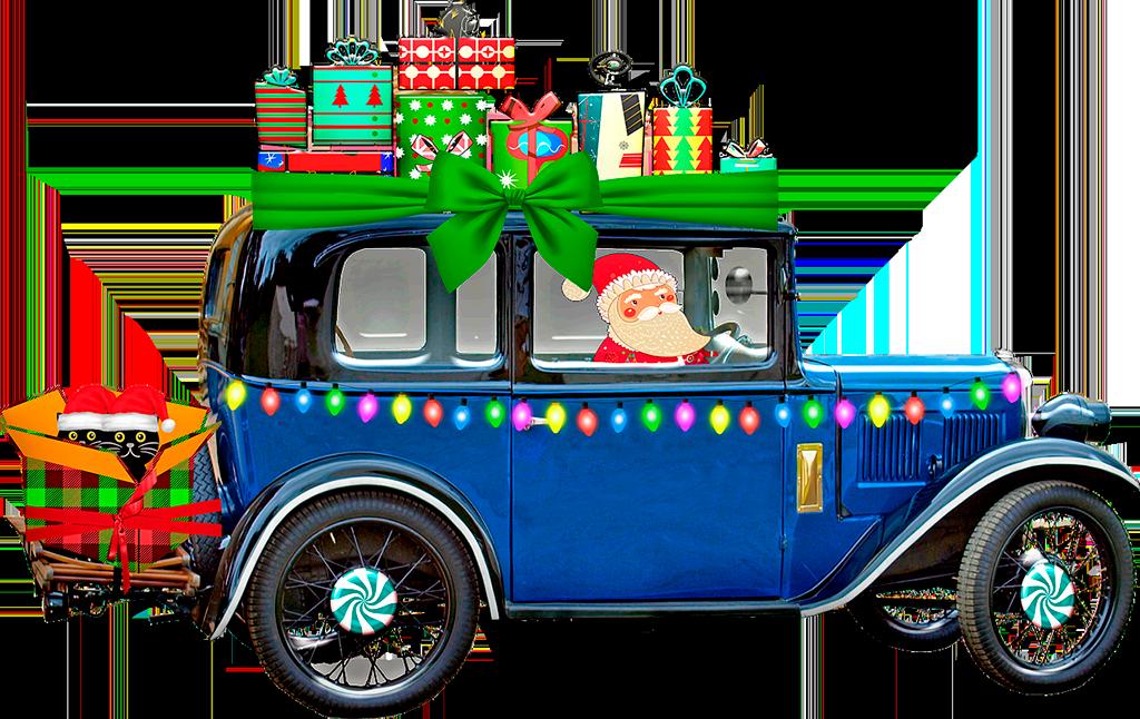 Jeep con Santa