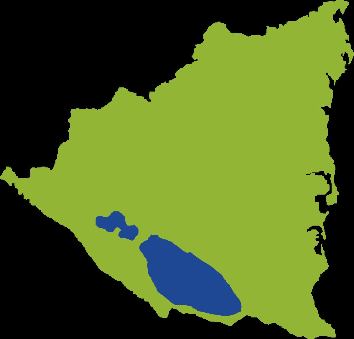 Mapa ecológico Nicaragua