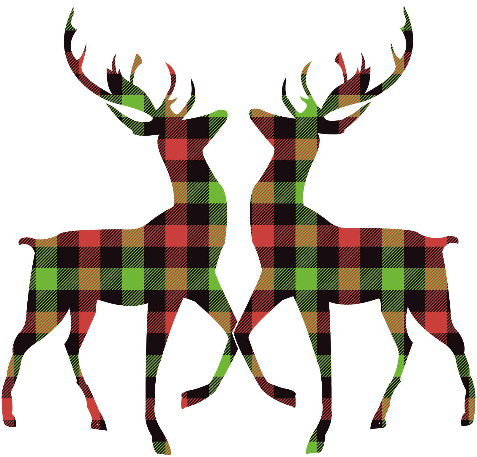 Navidad ciervos en tela