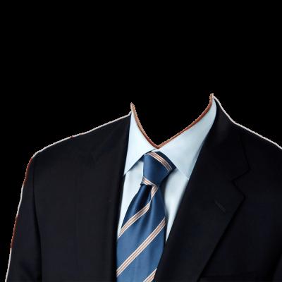 Traje negro con corbata azul
