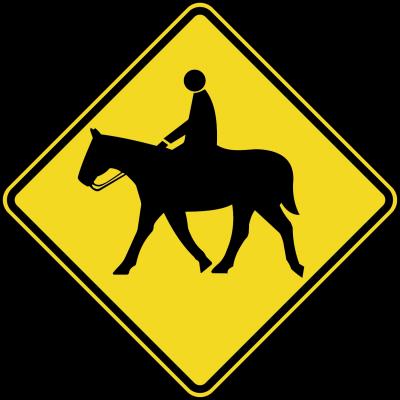 Caballo cruzando la calles