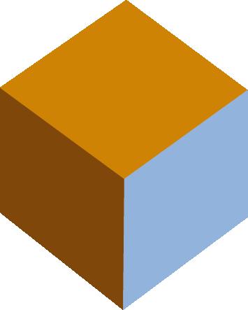 Cubo 3D dos colores