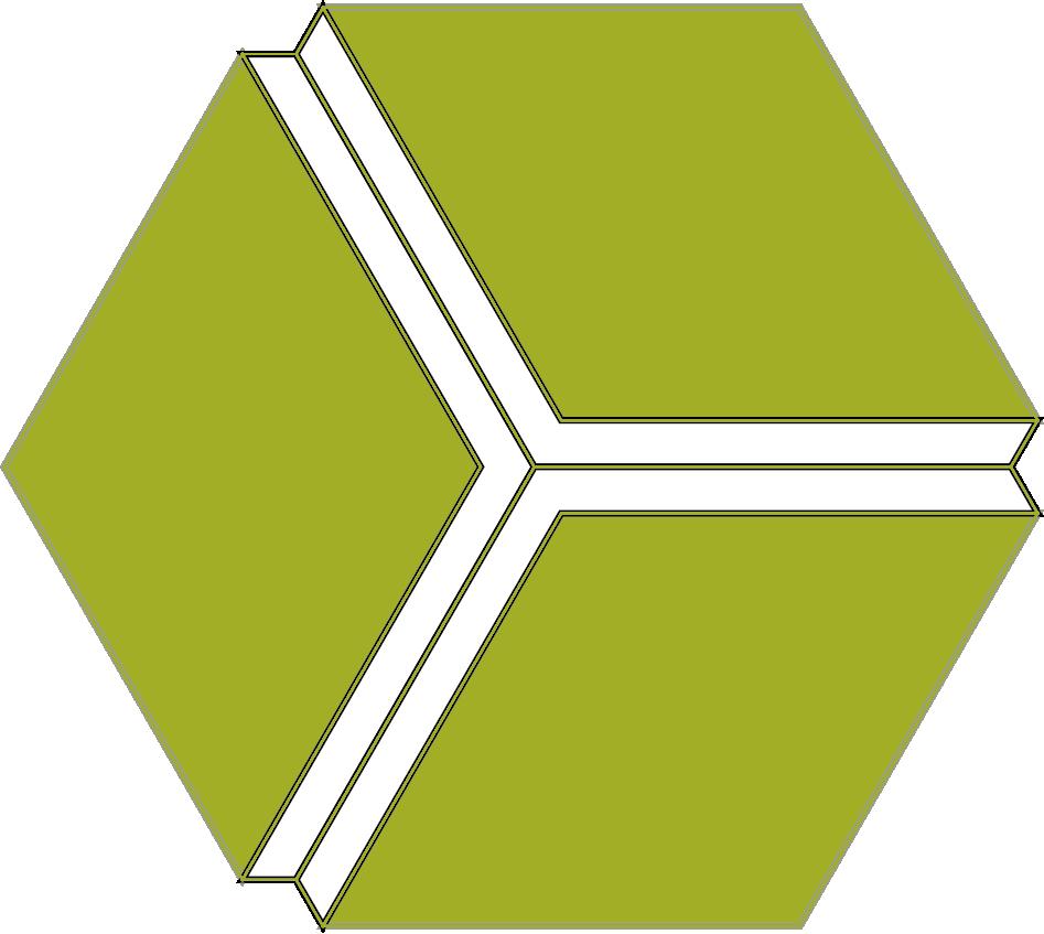 Cubo 3D verde