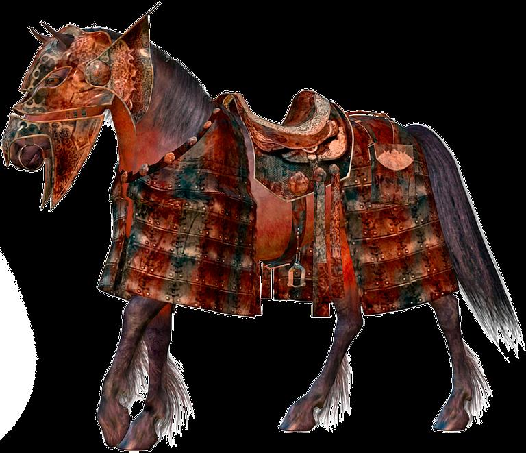 Lindo caballo rojo