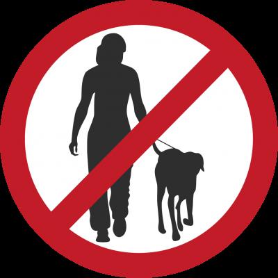 Prohibido las mascotas