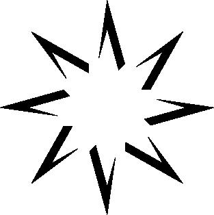 Estrella ocho picos