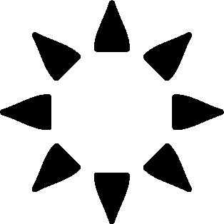 Estrella punta triángulos