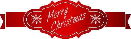 Etiqueta navideña cinta y rótulo