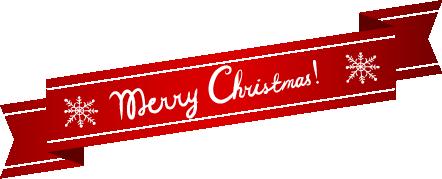Etiqueta navideña estilo cintillo