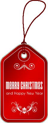 Etiqueta navideña vertical