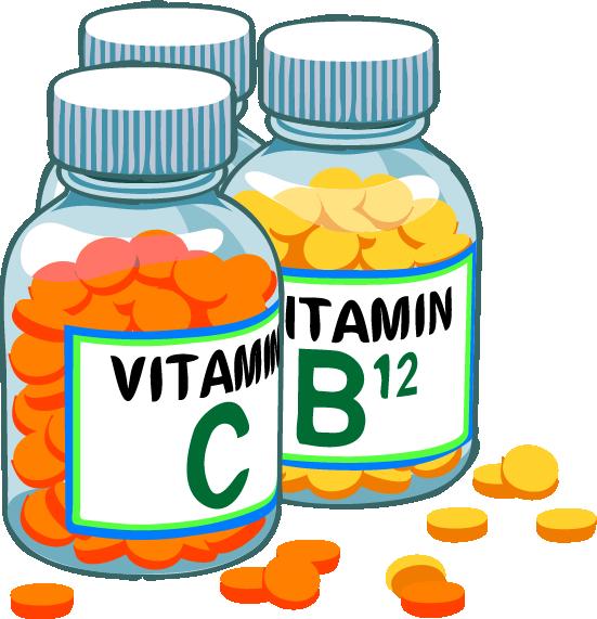 Frascos de vitaminas