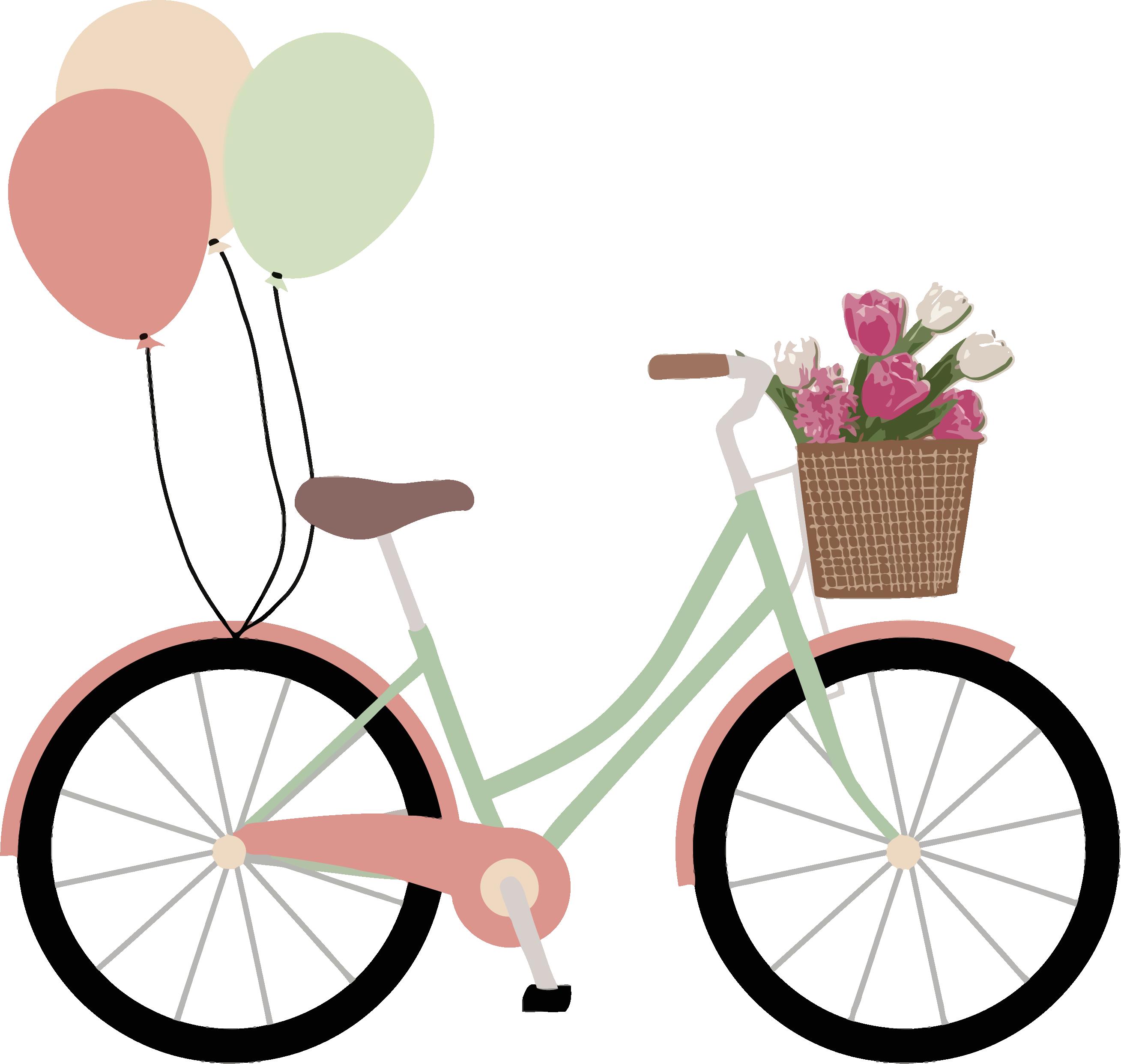 Bicicleta con globos