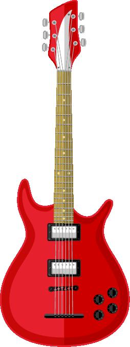 Guitarra acústica roja
