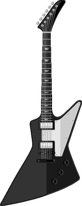 Guitarra blanco y negro electrónica