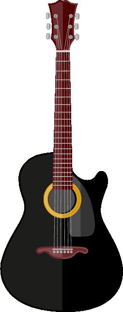Guitarra negra acústica