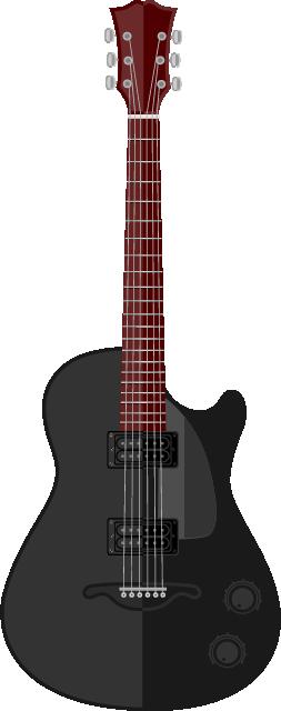 Guitarra negra con vino