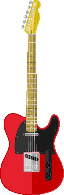 Guitarra roja y negra y amarillo