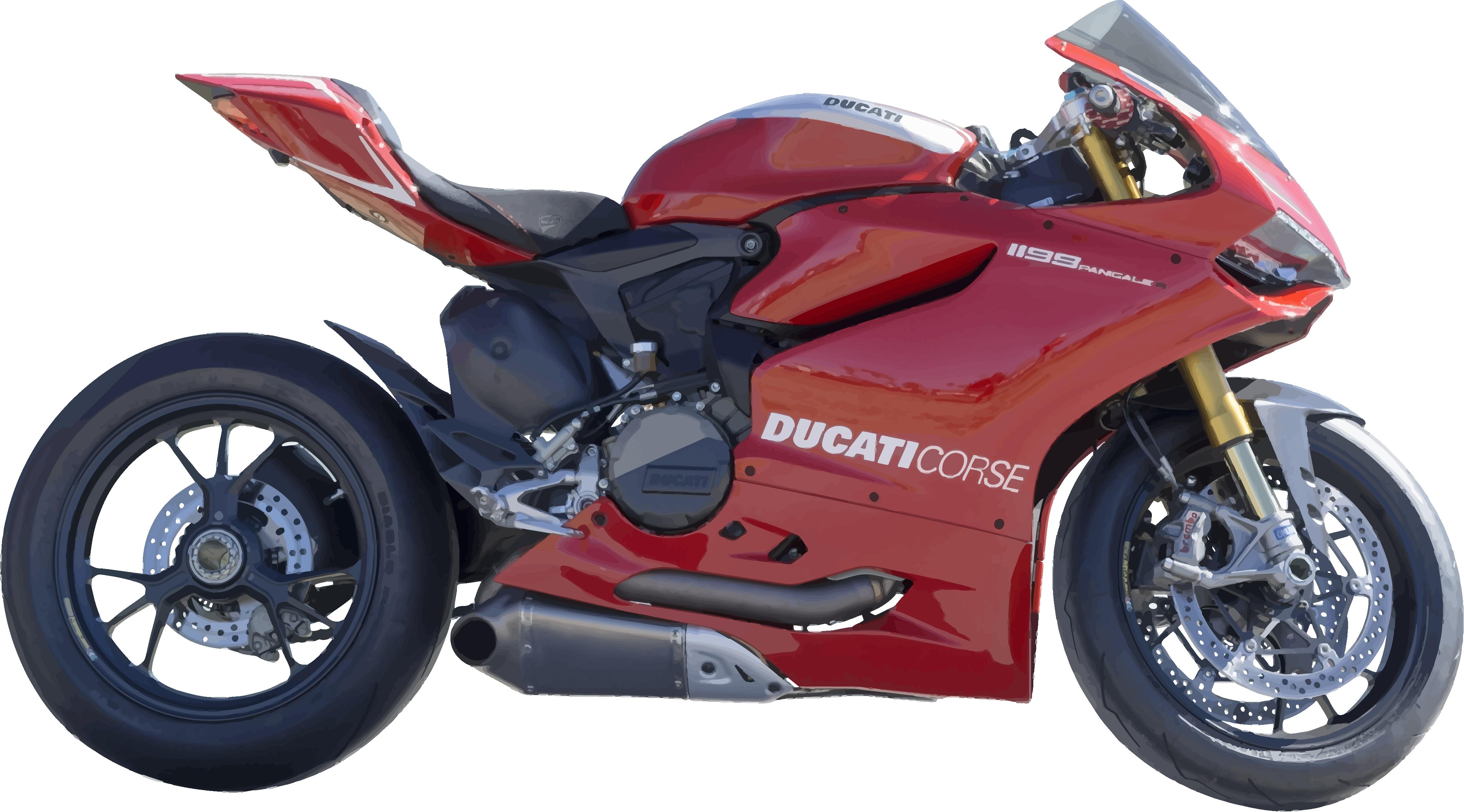 Motocicleta Ducati roja