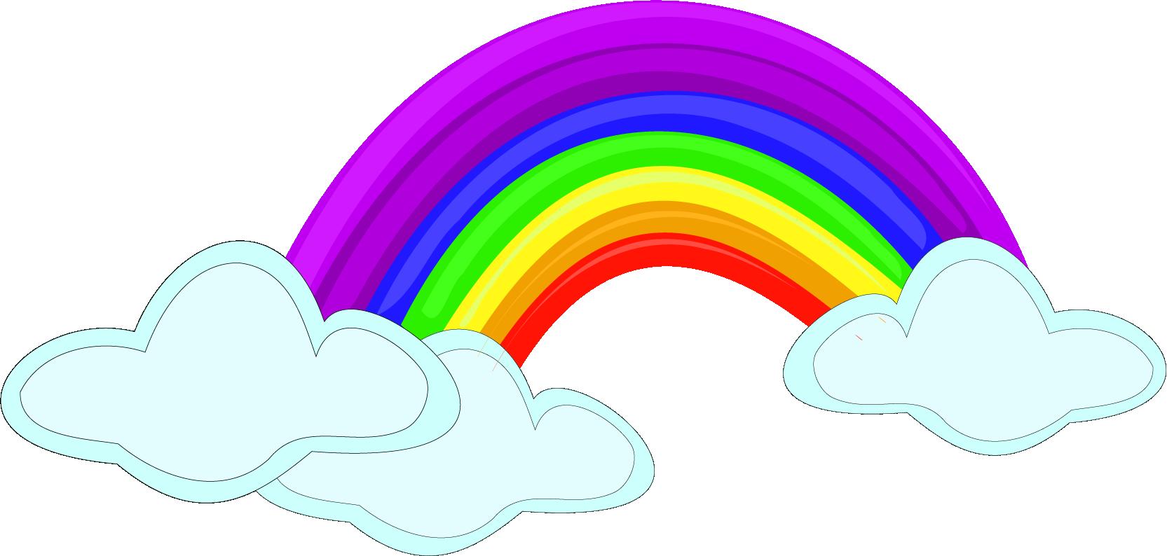 Nubes y arcoíris