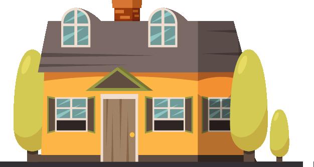 Casa de dos pisos logo