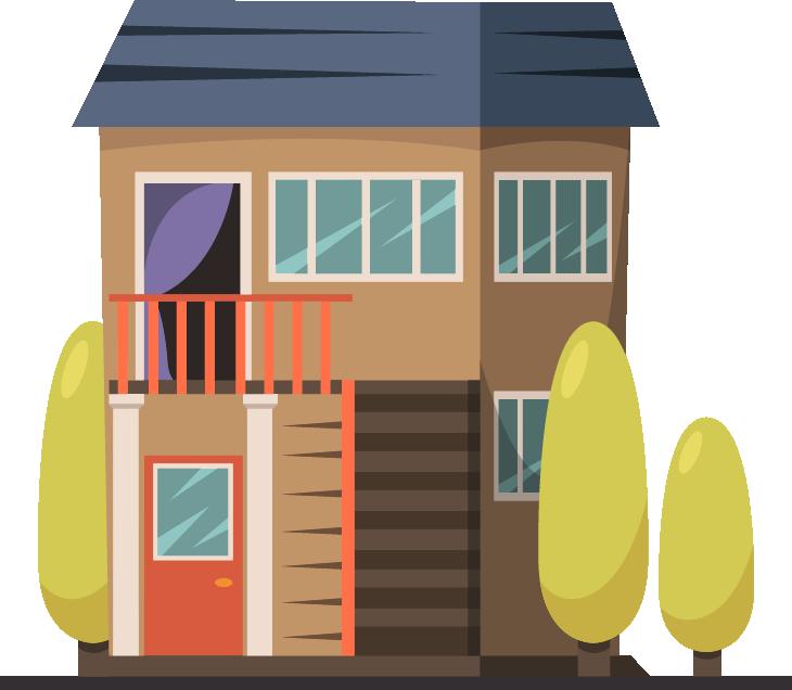 Casa dos pisos y azotea