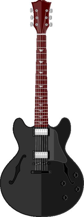 Guitarra grande negra electroacústica