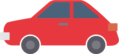Logo carro rojo