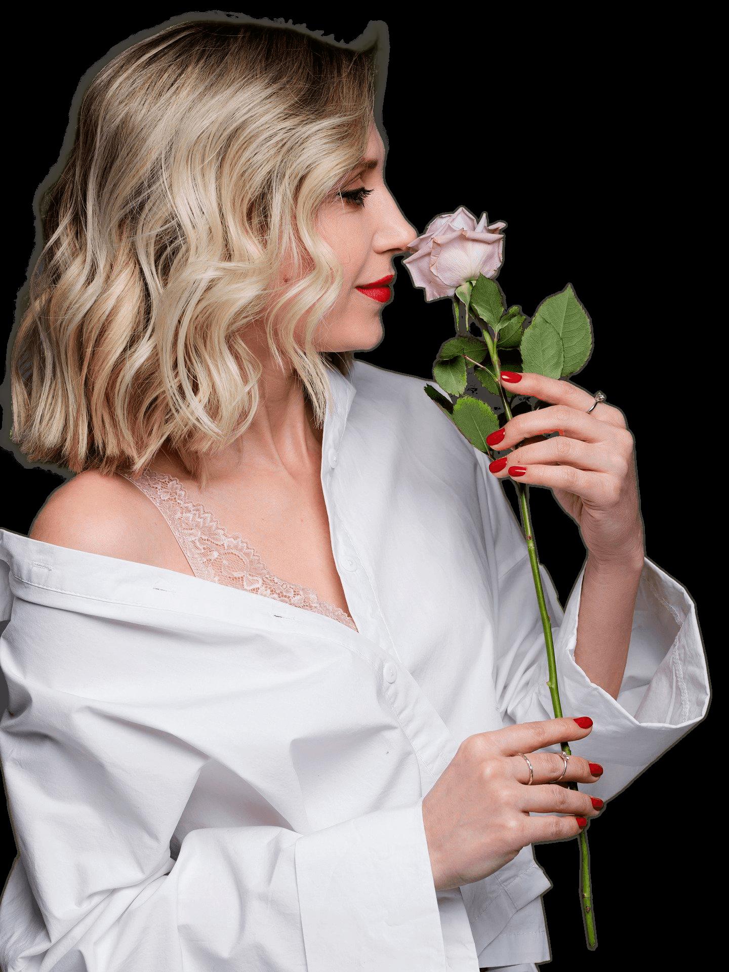Mujer Belleza Rose Flor Olor La Moda Estilo