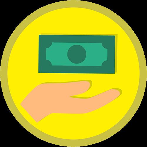 Logo dinero efectivo