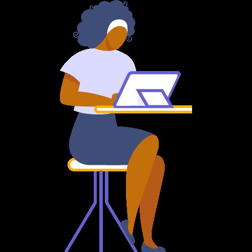 Mujer trabajndo en tablet
