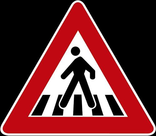 Peatón cruzando la calle