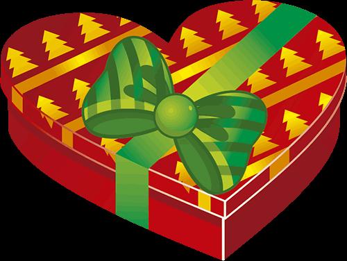 Presente corazón navideño