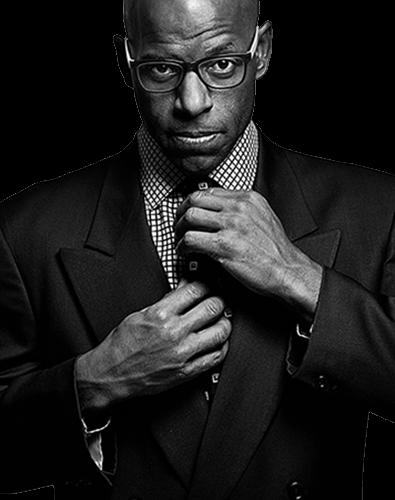 Retrato de caballero en blanco y negro