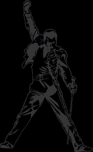 Tributo Freddie Mercury blanco y negro