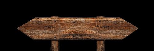 Un rótulo de madera