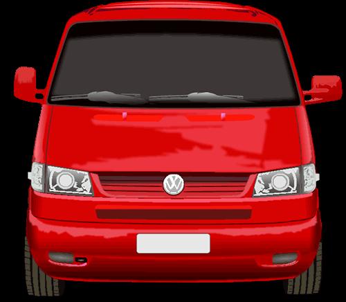 Vehículo Volkswagen rojo