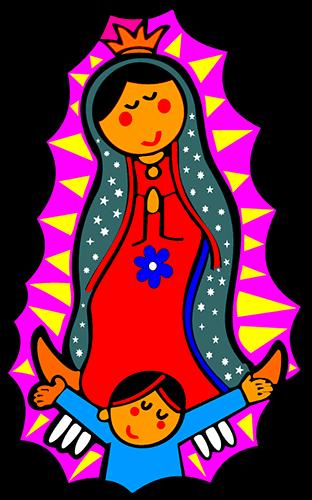 Virgen de Guadalupe cartoon