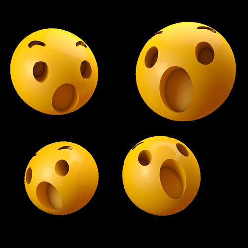 Emoji wow 3d-Uau