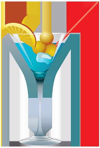 Coctel azul