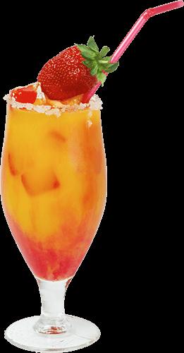 Coctel con una fresa