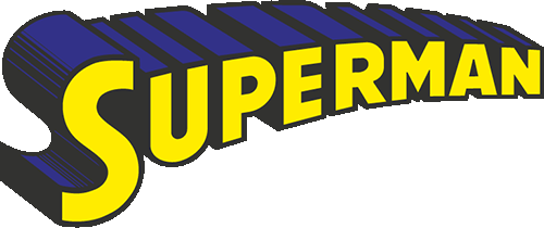 Superman logo amarillo y azul