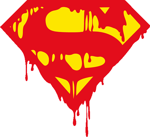 Superman logo sangrando