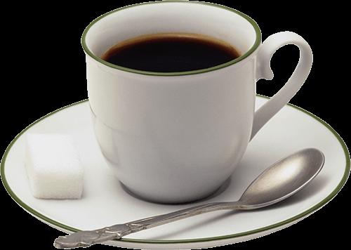 Taza blanca con café
